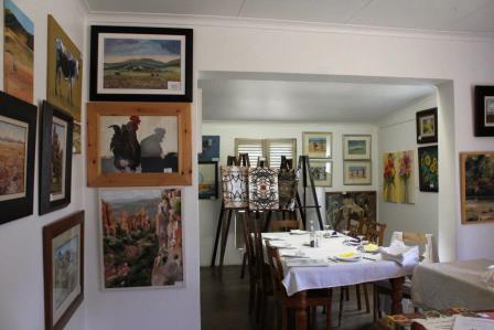 Restaurant in an art gallery